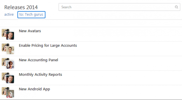 New: Search for Tasks by User Groups