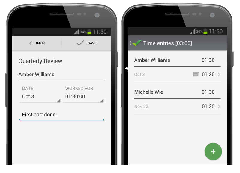 Android App Updated with Multiple Dashboards Time Tracker and New ...