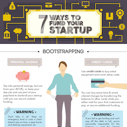 7 Ways to Fund Your Startup (Infographic)