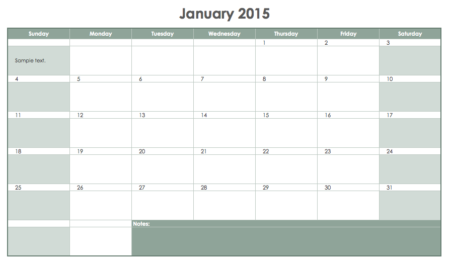 Ways to Create Your Project Manager Calendar: #1 Excel spreadsheets
