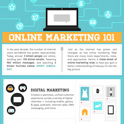 Online Marketing 101 infographic
