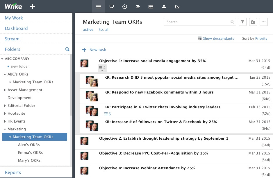 Team OKR + Subtasks