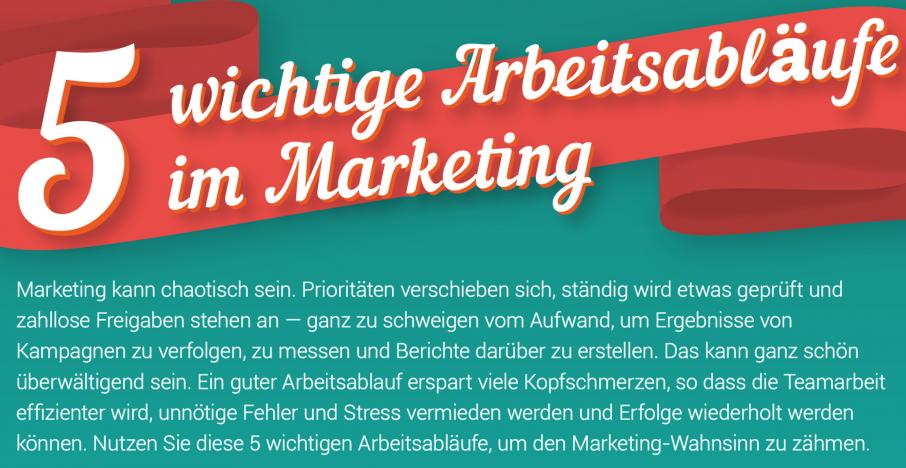 Warum Sie einen Marketing-Arbeitsablauf benötigen (Infografik)