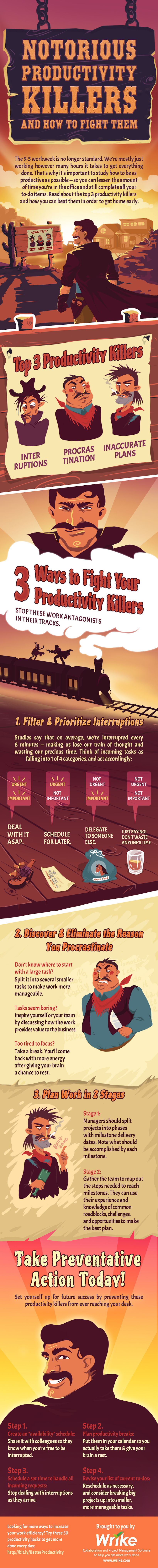 3 Notorious Productivity Killers and How to Fight Them (#Infographic)