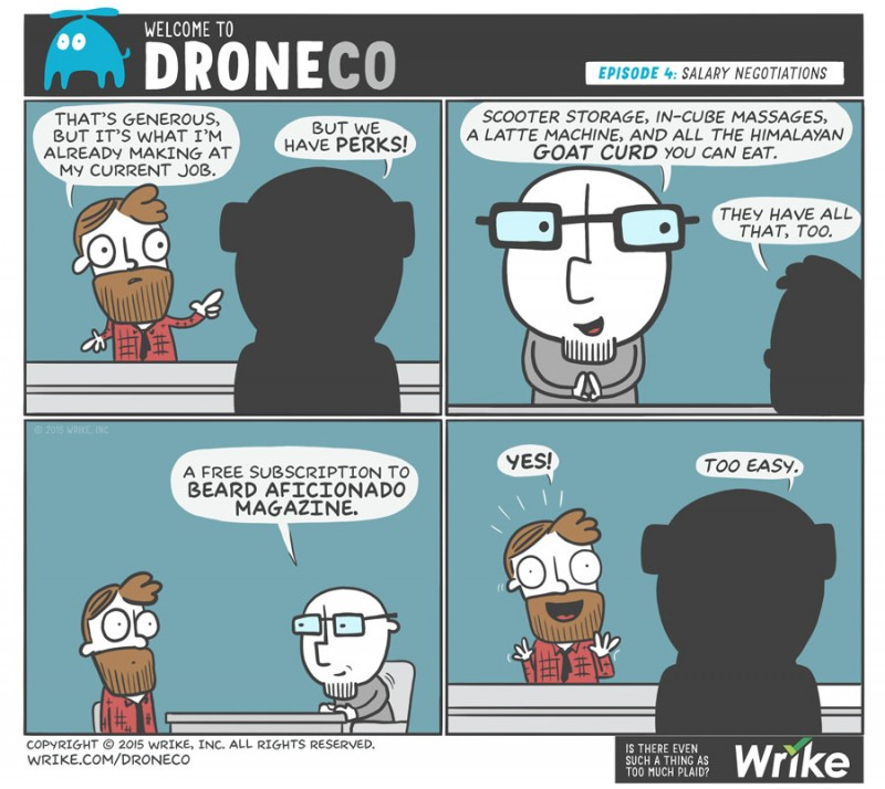 Outrageous StartupPerks (#A DroneCo Comic)