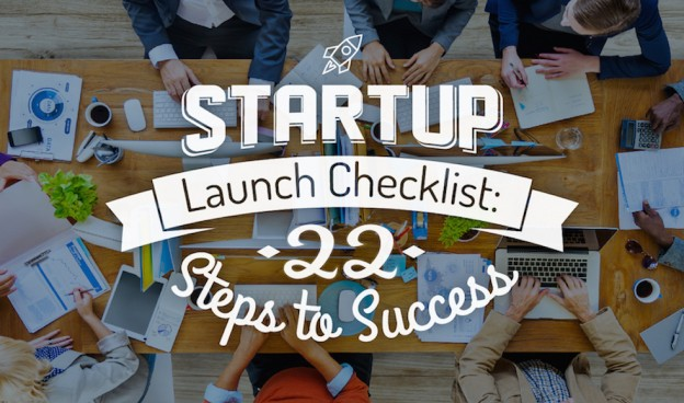 Startup Launch Checklist: 22 Steps to Success (Infographic)