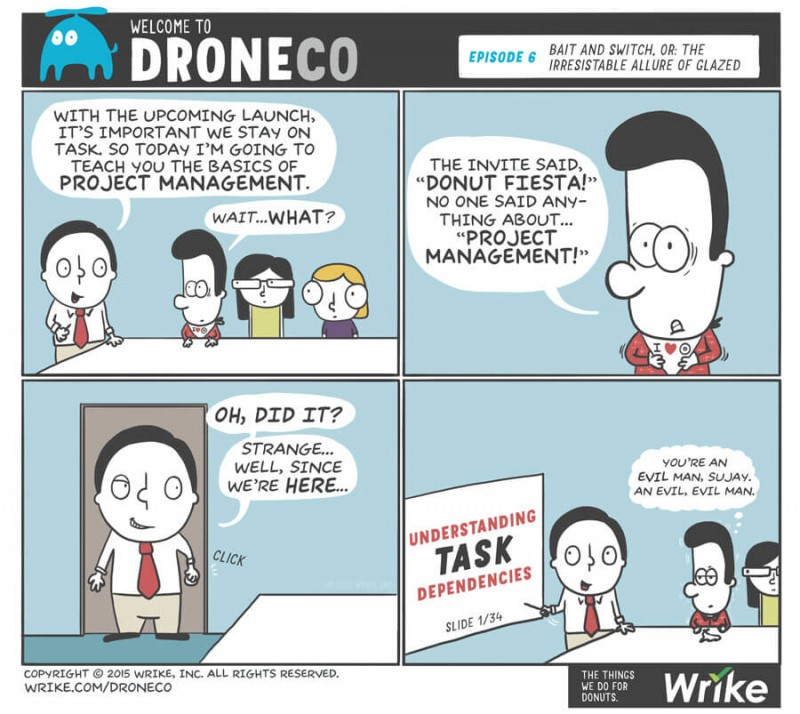 Allergic to Project Management (#ADroneCoComic)