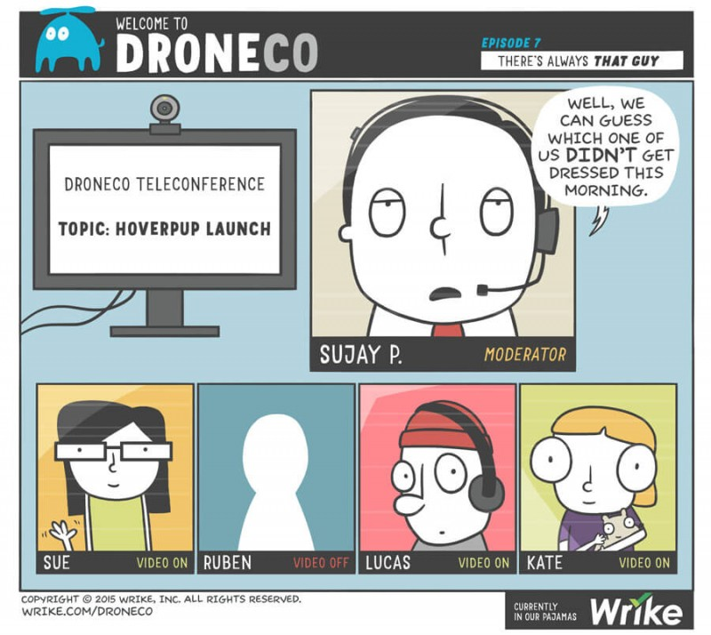 Video Conference Horror Stories (#ADroneCoComic)