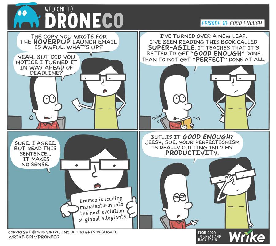 Craziest Productivity Tips (#ADroneCoComic)