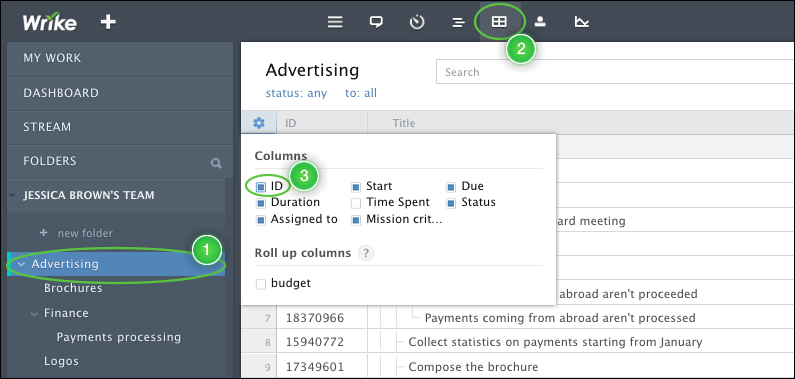 Use Job Numbers to Manage Work in Wrike