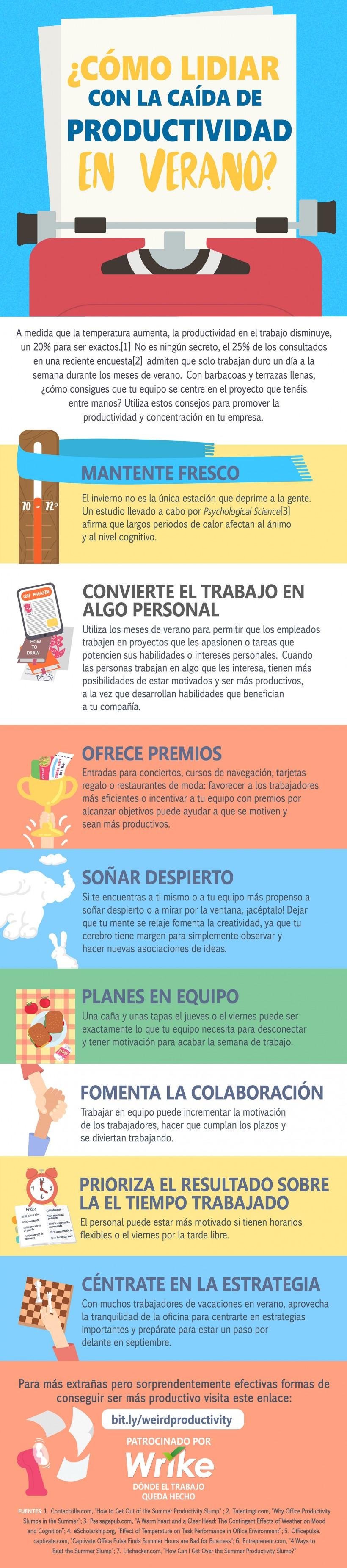 8 Trucos para Combatir la Caída de Productividad en Verano (Infografía)