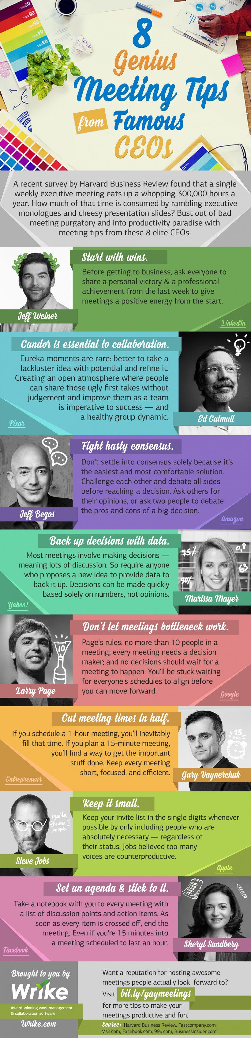 How Pixar, Google, and Facebook Fight Bad Meetings (#Infographic)