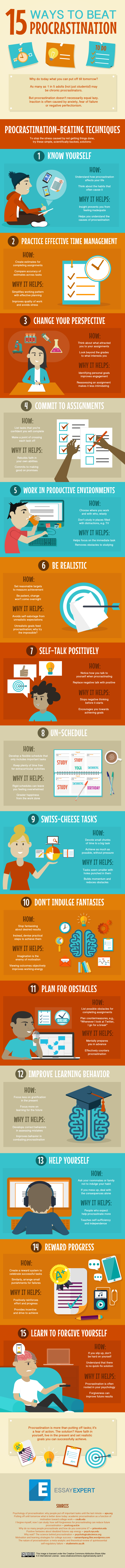 15 Ways to Overcome Procrastination (Infographic)
