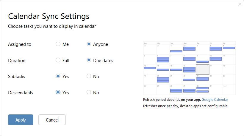 Расширенная интеграция с календарем Wrike для визуализации ваших планов
