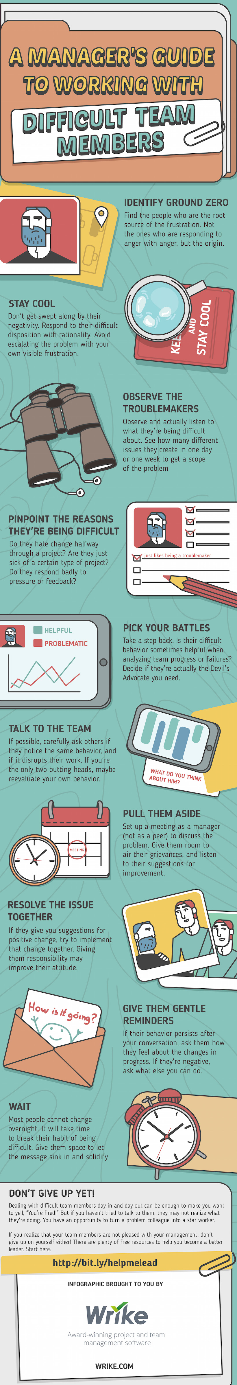 A Manager's Guide to Working with Difficult Team Members (#Infographic)