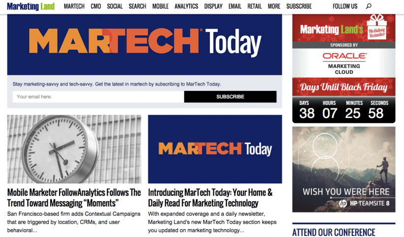 Marketing Land's Martech Today