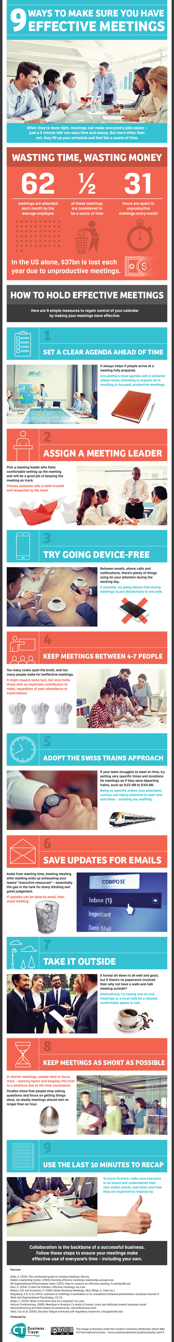 9 Ways to Make Sure You Run Effective Meetings (Infographic)