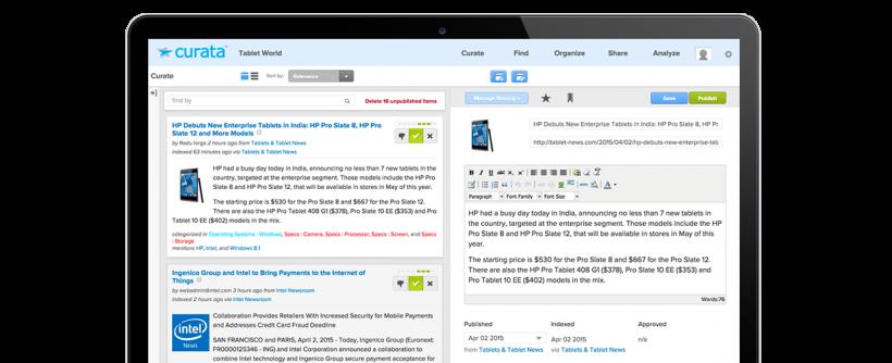 Curata - 40 лучших инструментов для повышения продуктивности команды маркетинга