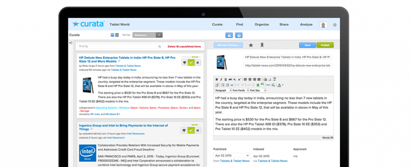 Curata - 40 Top Tools for Maximizing Marketing Team Productivity