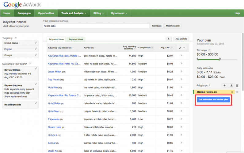 Google Keyword Planner - 40 Top Tools for Maximizing Marketing Team Productivity