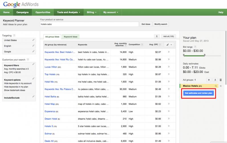 Google Keyword Planner - 40 лучших инструментов для повышения продуктивности команды маркетинга