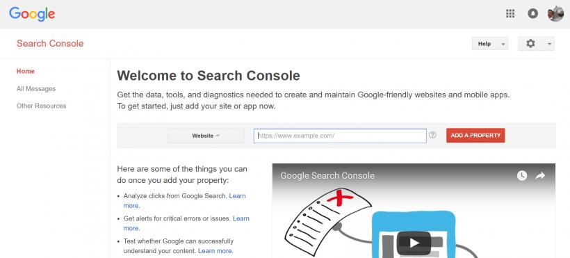 Google Search Console - 40 лучших инструментов для повышения продуктивности команды маркетинга