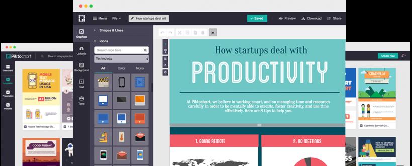 Piktochart - 40 Top Tools for Maximizing Marketing Team Productivity