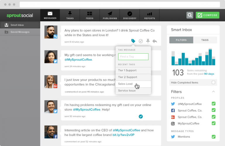Sprout Social - 40 Top Tools for Maximizing Marketing Team Productivity