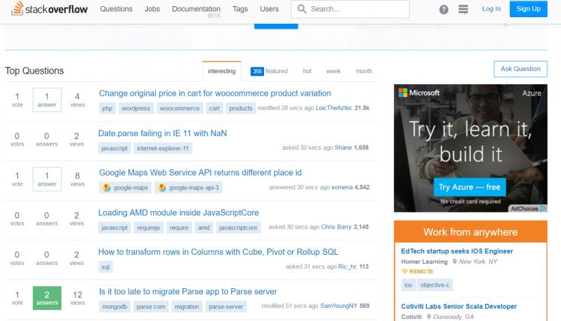 Stack Overflow - 40 лучших инструментов для повышения продуктивности команды маркетинга