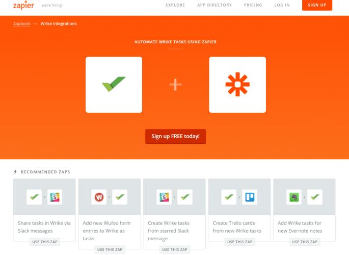 Zapier - 40 лучших инструментов для повышения продуктивности команды маркетинга