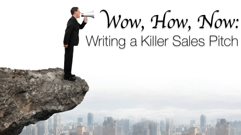 how to write a sales pitch Develop the perfect sales pitch  she is president and chief success strategist at marketing-advantage and write-communications,both business.