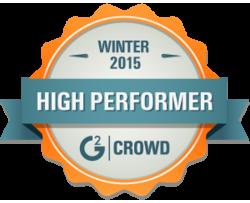 Winter 2015 High Performer G2Crowd
