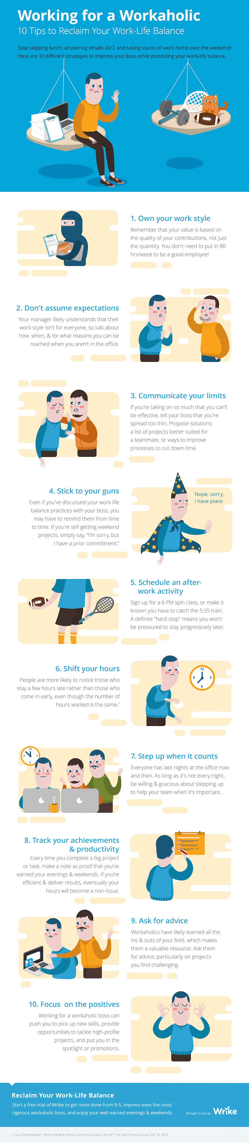 Good Working For A Workaholic: 10 Tips To Reclaim Your Work Life Balance  (Infographic)