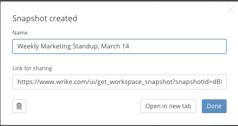 Announcing New Wrike Reports Snapshots!