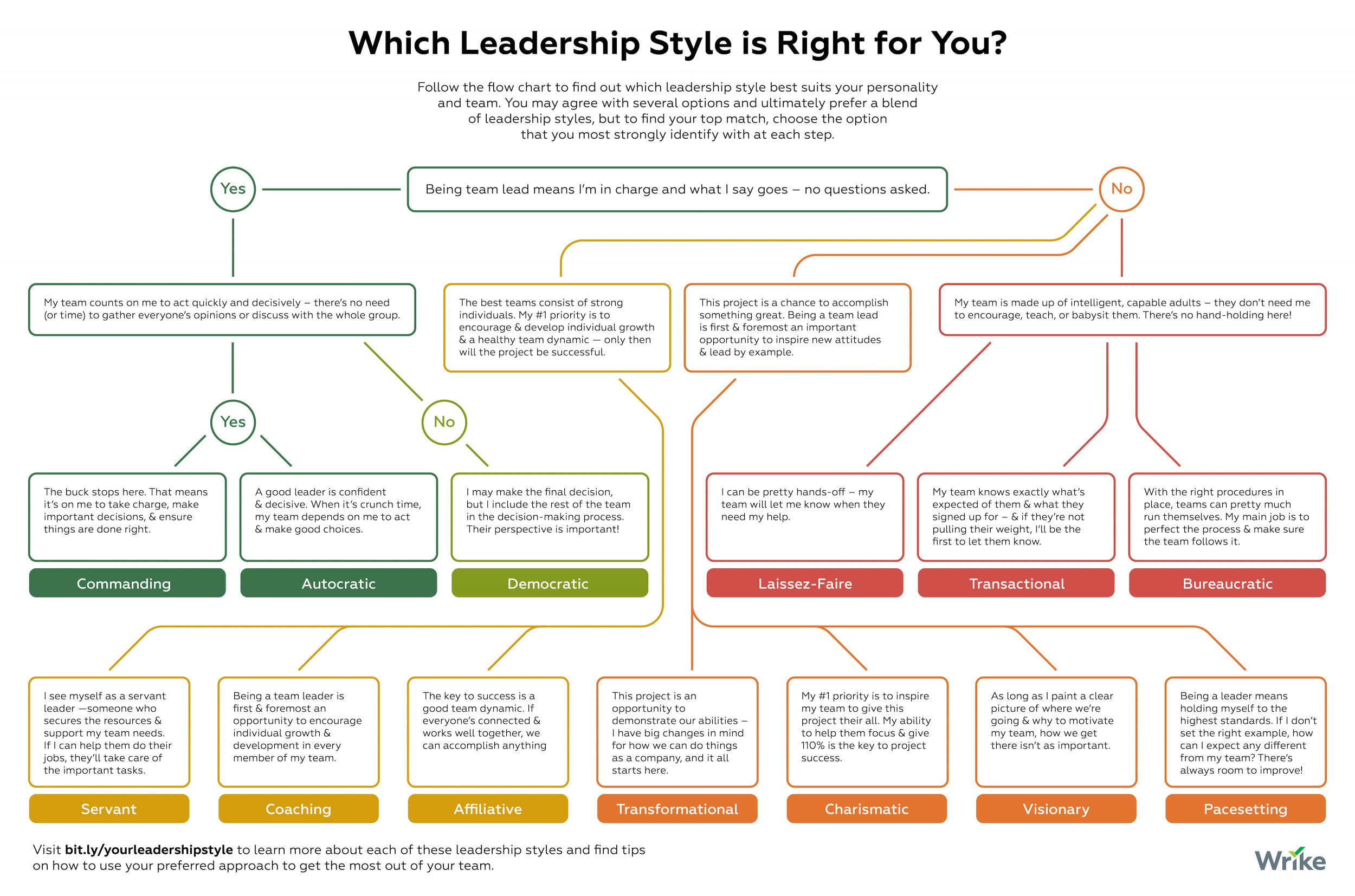 Which of These Leadership Styles is Right for You? (Decision Tree)