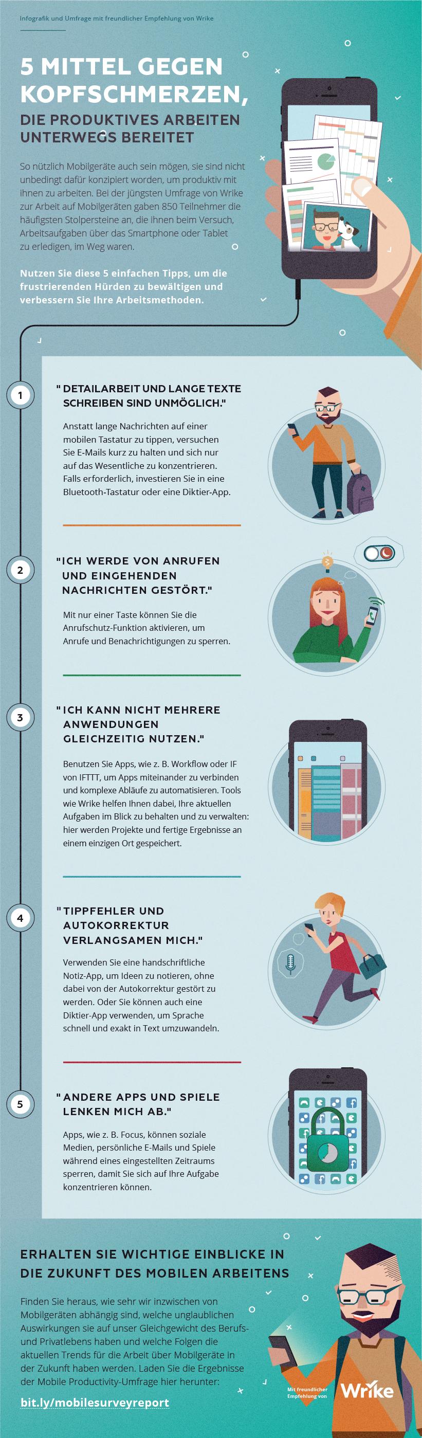 5 Mittel gegen Kopfschmerzen, die produktives Arbeiten unterwegs bereitet (Infografik)
