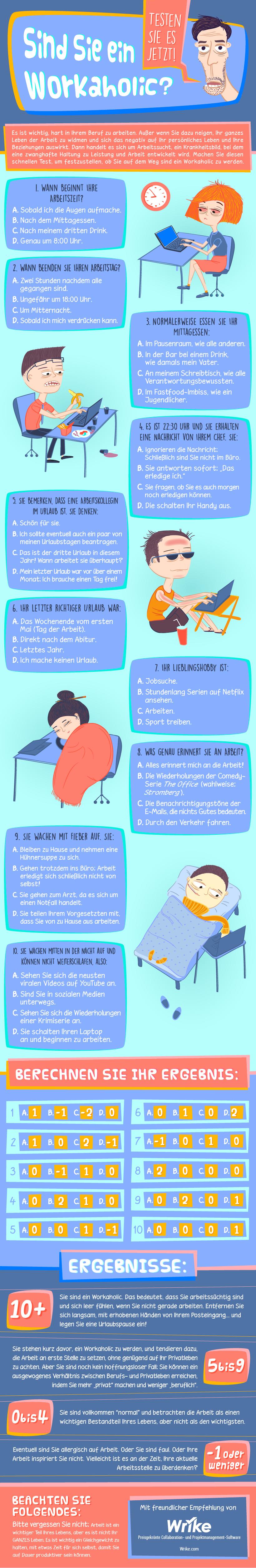 Wie Sie feststellen können, ob Sie ein Workaholic sind (Infografik)