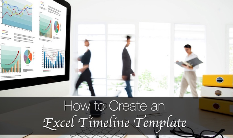 how to create an excel timeline template