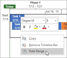 create a project timeline