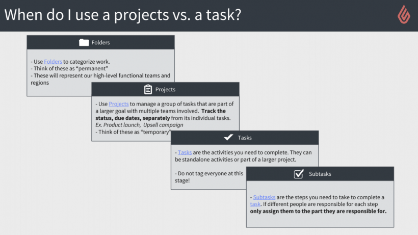 Wrike adoption tip: define projects vs tasks