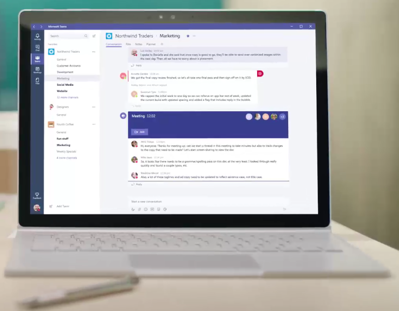 Microsoft Teams - Top Business Team Collaboration Tools