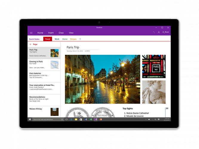 OneNote - top team collaboration tools
