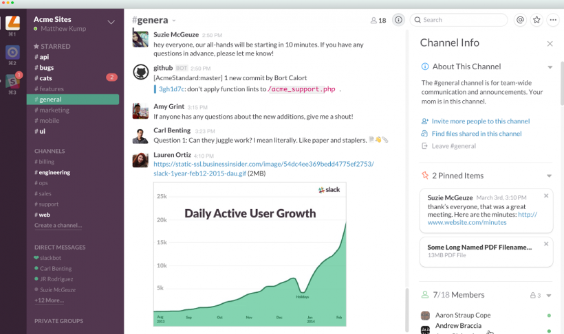 Slack - top business team collaboration tools