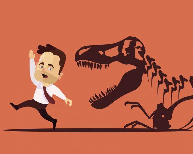 3dinosaures du travail: les outils préhistoriques dépassés