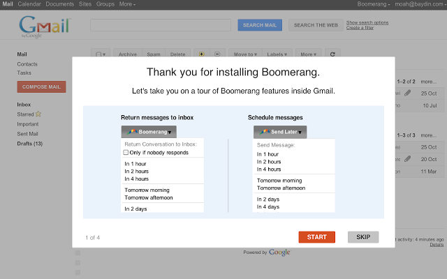Boomerang for Gmail - 51 Chrome Browser Extensions to Amplify Your Productivity