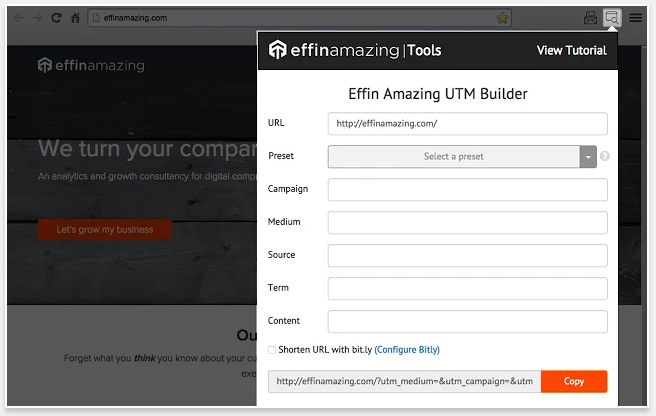 Effin Amazing UTM Builder - 51 Chrome Browser Extensions to Amplify Your Productivity