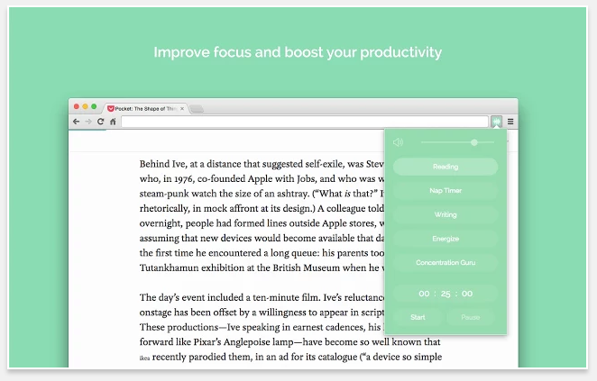 Noisli - 51 Chrome Browser Extensions to Amplify Your Productivity
