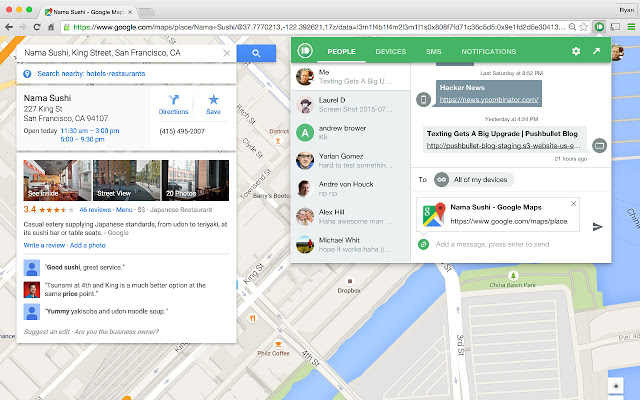 Pushbullet - 51 Chrome Browser Extensions to Amplify Your Productivity