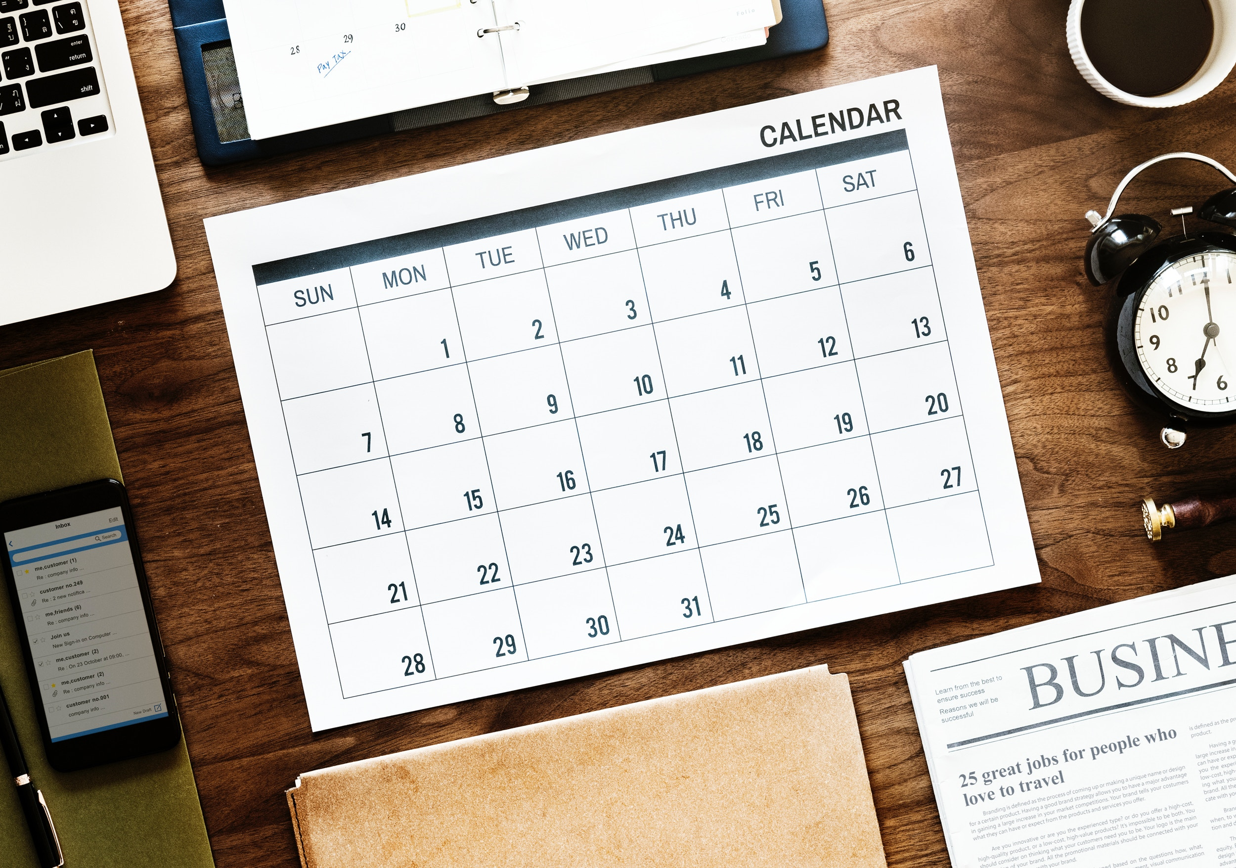 Calendar Ideas For Business : Ways to create your project manager calendar