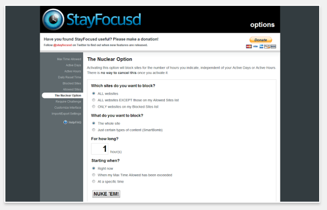StayFocusd - 51 Chrome Browser Extensions to Amplify Your Productivity
